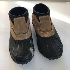 LL Bean Waterproof Slip On Booties Sz 7.5M Tan